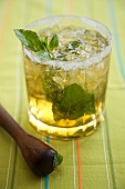 Mint Julep made with Kentucky Bourbon in a Glass