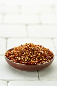Shallow Dish of Chili Pepper Flakes