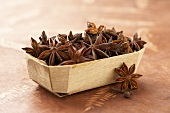 Small Wooden Container of Star Anise
