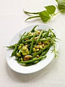 Mixed Bean Salad on a White Dish