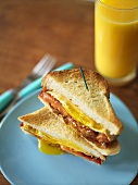 Egg, Cheese and Bacon Breakfast Sandwich on White Bread