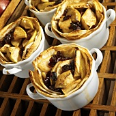 Apples, Dried Cranberries, Maple Syrup and Cinnamon in a Tortilla Shell