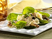 Spinach Salad with Farfalle and Walnuts