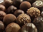 Chocolate Truffles, Close Up, Full Frame
