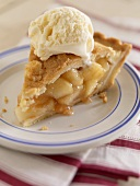 A Slice of Apple Pie with Vanilla Ice Cream