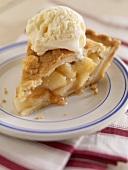 Stück Apple Pie mit Vanilleeis