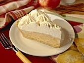 Slice of Apple Cinnamon Cream Pie