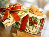 Cashews in a Holiday Gift Box, Opened