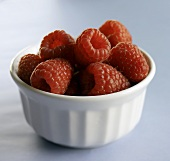 Small Bowl of Fresh Raspberries