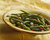 Green Beans with Feta Cheese, Dried Cranberries and Walnuts
