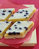 Lemon Blueberry Bars with Powdered Sugar
