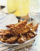 Grilled Sweet Potato Fries on a Platter