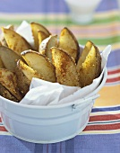 Potato Wedge Fries in a Paper Lined Pail