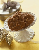 Pralines on a Pedestal Dish, Silver Pinecone Decorations