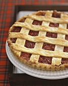 Scottish Rhubarb Tart With Lattice Crust