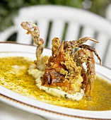 Soft Shell Crab in Herbed Butter Sauce