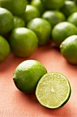 Persian Seedless Limes; Whole and Halved