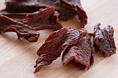 Beef Jerky; Close Up