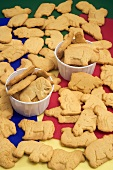 Animal Crackers In and Beside Small Paper Cups