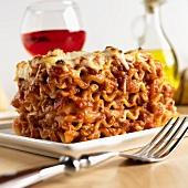 Lasagne al forno (Nudelauflauf mit Bechame- & Fleischsauce)