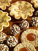 Assorted Baked Goods; Peach Tartlets, Cookies and Truffles