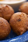 Close Up of Hush Puppies; Corn Fitters
