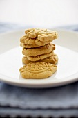 Animal Crackers Stacked on a Plate