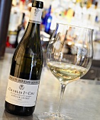 Chablis in bottle and glass