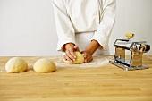 Making Pasta Dough: Forming the Dough into Balls