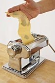 Making Basil Pasta with a Pasta Maker