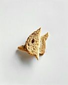 Two Piece of Bread Stacked on a White Background