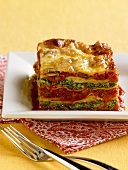 Lasagne vegetariane (Spinach and tomato lasagne, Italy)