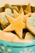 Bowl of Sugar Cookies with Colored Sugar Crystals
