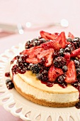 Whole Cheesecake With Assorted Berry Topping