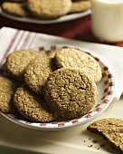 Ginger Snap Cookies and a Glass of Milk