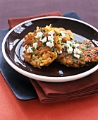 Fried Veggie Cakes with Goat Cheese and Chives