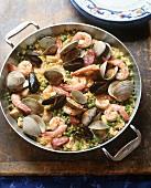 Large Pot of Paella