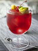 A glass of Sangria