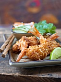 Coconut-coated shrimps