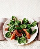 Spinach, Watercress and Duck Salad with Quince