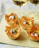 Egg and Shrimp Phyllo Cups