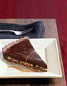 Slice of Chocolate Nut Pie