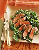 Sliced Steak and Arugula Salad