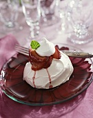 Spiced Plum Pavlova with Whipped Cream