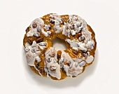 Coffee Cake Ring with Pecans and Icing