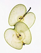 Two Translucent Apple Slices