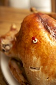 A Whole Roasted Turkey with Popped Popper
