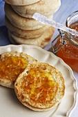 An English Muffin with Orange Marmalade