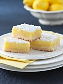 Lemon Squares on Stacked Plates