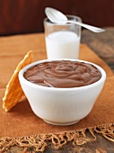 Chocolate Pudding with Wafer Cookie